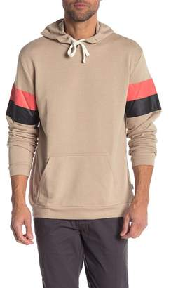 Onia Casual Stripe Sleeve Hoodie
