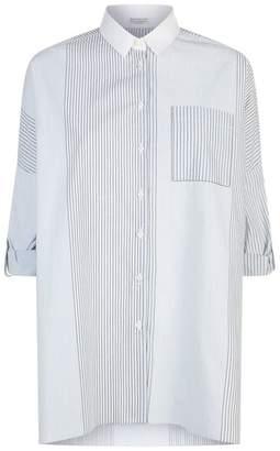 Brunello Cucinelli Oversize Stripe Poplin Shirt