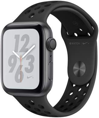 Apple AppleWatch Nike+ Series4 GPS, 44mm Space Gray Aluminum Case with Anthracite/Black Nike Sport Band