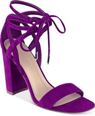 Marc Fisher Fatima Lace-Up Block-Heel Sandals Women's Shoes $89 thestylecure.com