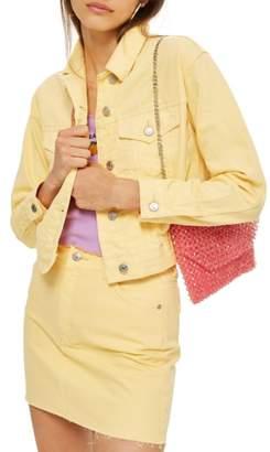 Topshop Yellow Denim Jacket