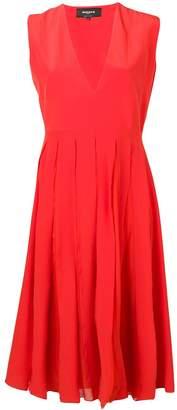 Rochas silk pleated dress