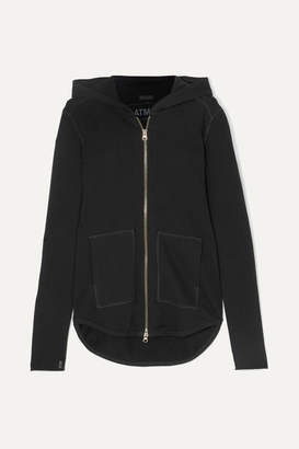 ATM Anthony Thomas Melillo French Cotton-terry Hooded Top