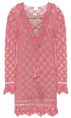 Anna Kosturova Summer cotton crochet dress