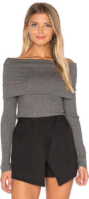 Line & Dot Lea Off Shoulder Top in Gray $110 thestylecure.com