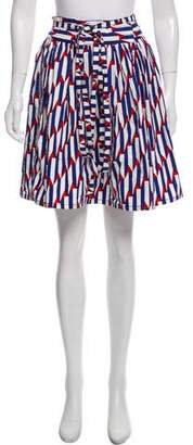 Marc Jacobs Fluted Striped Skirt