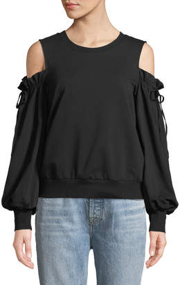 1 STATE 1.State Cold-Shoulder Long-Sleeve Blouse
