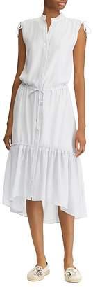 Lauren Ralph Lauren Button-Down High/Low Midi Dress
