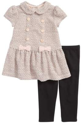 Little Me Button Dress & Leggings Set