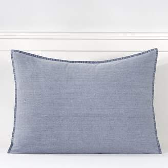 Pottery Barn Teen Vintage Washed Organic Cotton Sham, Standard, Faded Navy