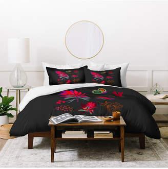 Deny Designs Holli Zollinger Desert Botanical Indian Paintbrush Twin Duvet Set Bedding
