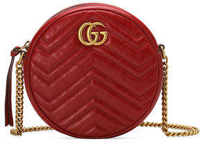 Gucci GG Marmont Mini Round Chevron Crossbody Bag