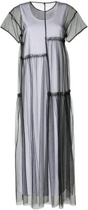 P.A.R.O.S.H. tulle layer maxi dress