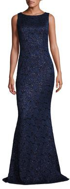 Carmen Marc Valvo Sleeveless Lace Gown $2,995 thestylecure.com