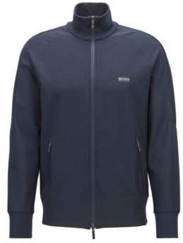 BOSS Hugo Zippered sweatshirt in active-stretch S.Cafe& XXL Dark Blue