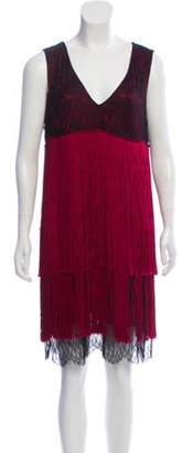 Prabal Gurung Lace Fringed Dress w/ Tags Red Lace Fringed Dress w/ Tags