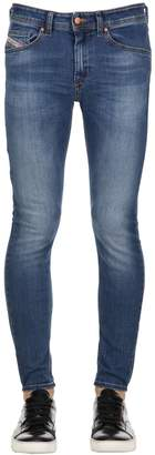 Diesel 16cm Stickker Stretch Leggings Jeans