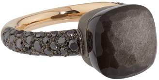 Pomellato Mixed Metal and Obsidian Nudo Ring