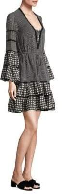 Jonathan Simkhai Mixed Gingham Ruffle Dress