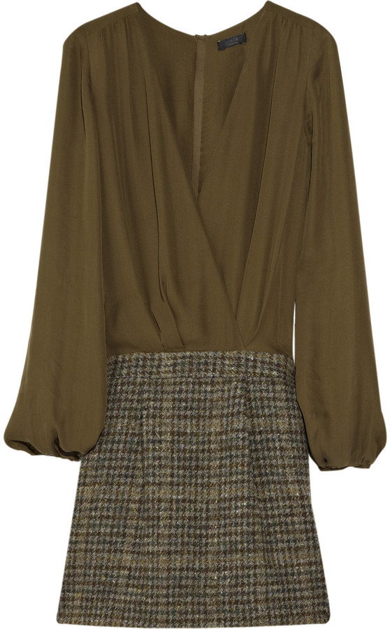 J.Crew Luna Mixy silk and wool dress