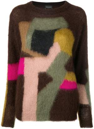 Roberto Collina knitted panelled sweater