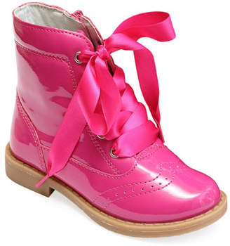 L'Amour Shoes Stella Patent Leather Mid-Top Boot, Baby/Toddler/Kids