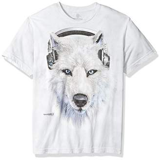 The Mountain Men's White Wolf Dj Tri-Blend T-Shirt