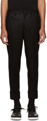 Neil Barrett Black Slim Wool Trousers $560 thestylecure.com
