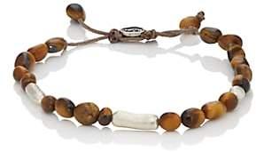 M. Cohen Men's Tiger's Eye Beaded Bracelet - Brown