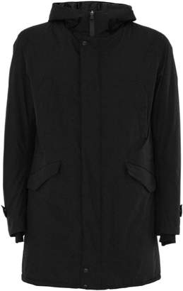 Herno Raincoat In Black High Tech Fabric.