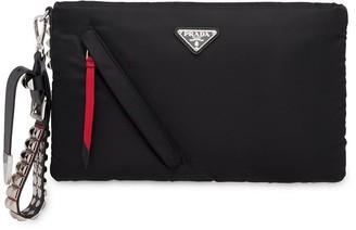 Prada logo clutch bag