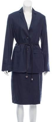 Loro Piana Linen-Blend Skirt Suit