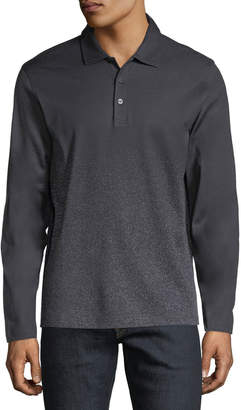 Bugatchi Long-Sleeve Speckled Polo Shirt