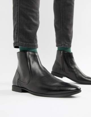 3da88c024 Pier 1 Imports chelsea boots in black leather with zip