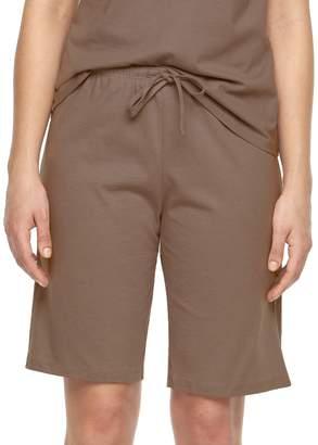 Jockey Plus Size Pajamas: Solid Bermuda Pajama Shorts