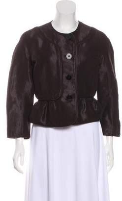 Burberry Linen-Blend Textured Jacket