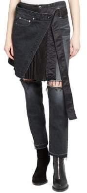 Sacai Wrap Skirt& Denim Pants Combo