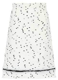 Giambattista Valli Wool-blend tweed skirt