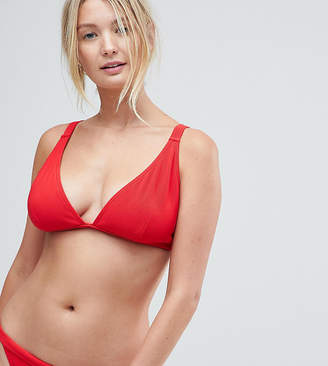 Wolfwhistle Wolf & Whistle Red Rib Triangle Bikini Top DD - G Cup