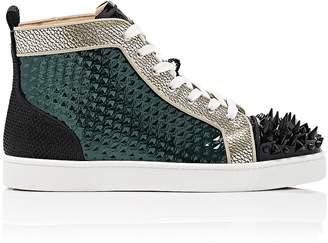 Christian Louboutin Men's Louis Pik-Bis Flat Sneakers