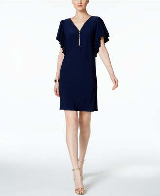 MSK Zip Front Flutter-Sleeve Dress $69 thestylecure.com