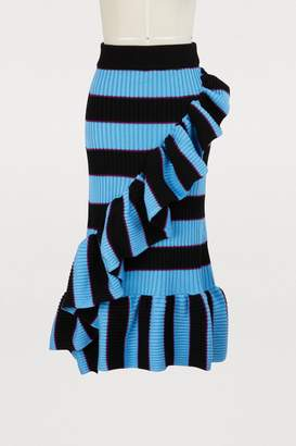 Kenzo Striped skirt with ruffles