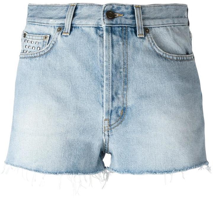 Saint LaurentSaint Laurent studded denim shorts