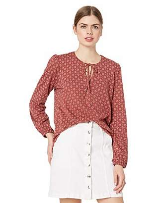 Lucky Brand Women's Printed Top with Tassles