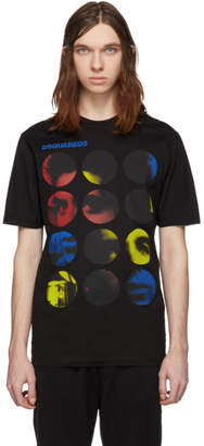 DSQUARED2 Black Circle Graphic T-Shirt