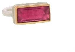 Jamie Joseph Rectangular Inverted Pink Tourmaline Ring