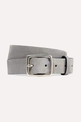 Rag & Bone Boyfriend Brushed-suede Belt - Gray