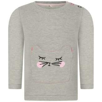 Esprit EspritBaby Girls Grey Cat Pocket Sweater