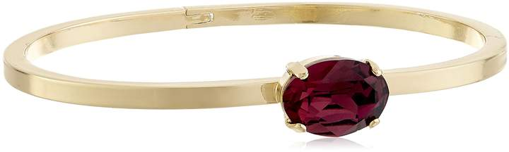 Cara Swarovski Crystal with Oval Stone Bangle Bracelet