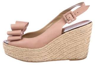 Valentino Espadrille Bow Wedges Pink Espadrille Bow Wedges